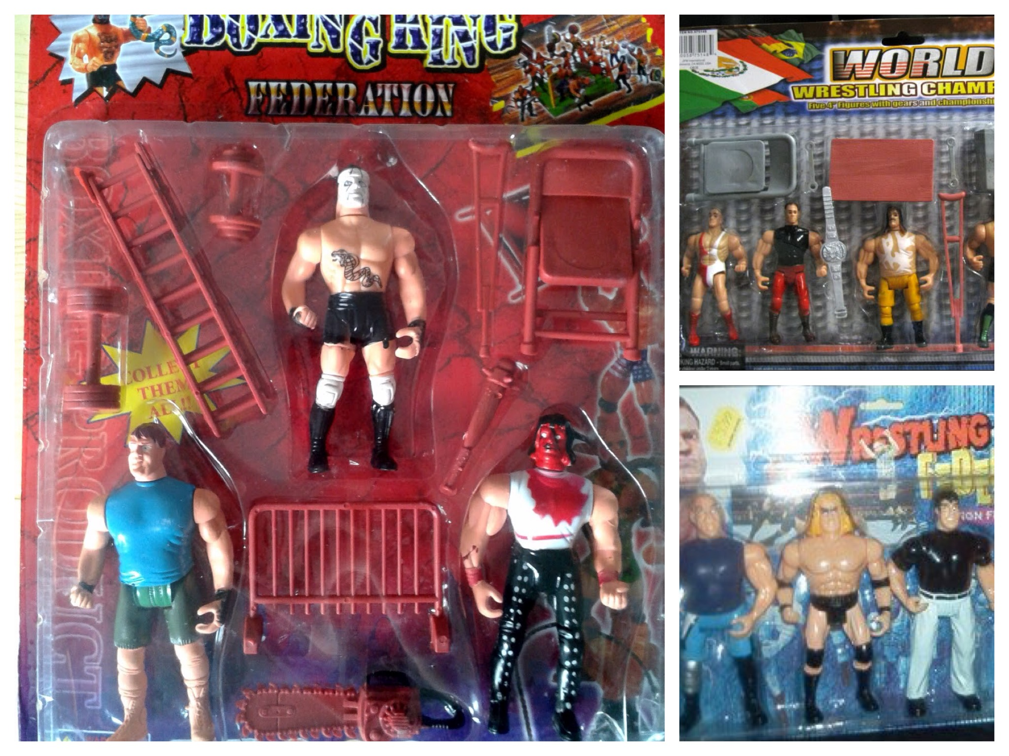 Bootleg Wrestling Action Figures