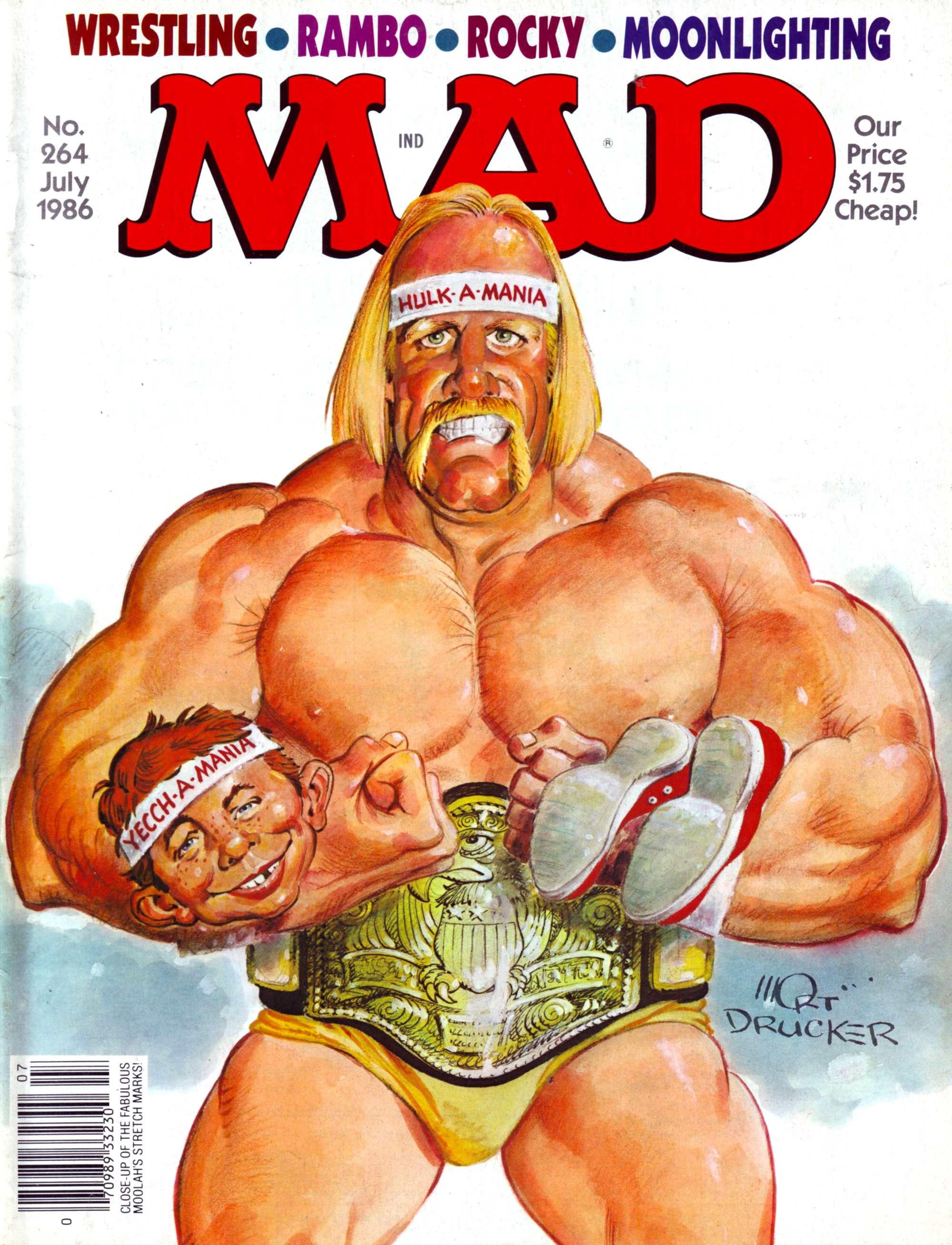 Wrestling was still on a hot streak when The Hulkster finally made it on to  MAD Magazine. No disrespect to Cracked f7374e4538f8