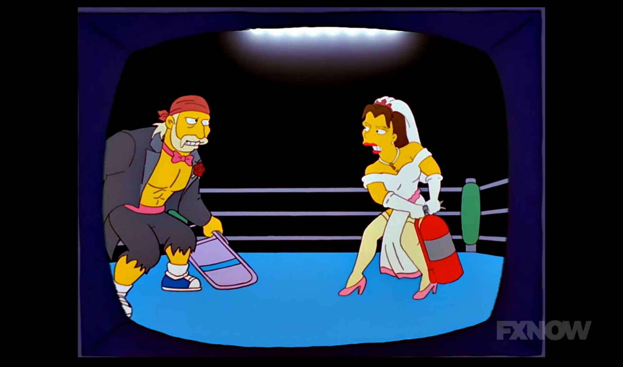Wrestlers on The Simpsons